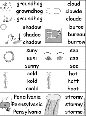 spelling groundhog day crafts worksheets and printable books