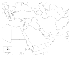 outline map middle east outline map of asia and middle east with blank for