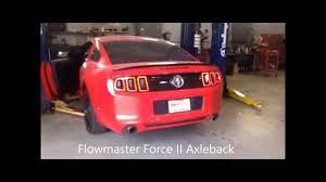 magnaflow vs flowmaster mustang flowmaster vs borla vs stock 2011 2014 mustang v6