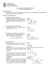 worksheet 1 1 factoring polynomials factorization polynomial