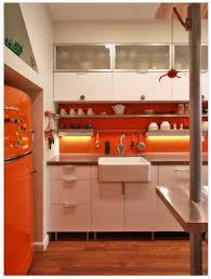 Orange Kitchen Design Houzz In The House Big Chill