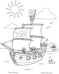 pirate ship coloring pages fablesfromthefriends com
