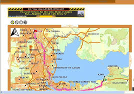 lagos city map digital map of nigeria cities and town travel nigeria