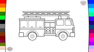 fire truck coloring page name and sound baby kids youtube