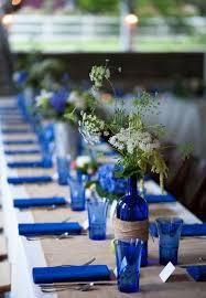 blue and burlap themed reception table my wedding ideas
