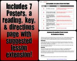 post world war ii japanese occupation poster analysis by students