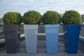vancouver tall outdoor planters patio contemporary with black