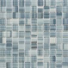 Blue Glass Tile Bathroom - hand painted blue crystal glass mosaic wall tile zz001