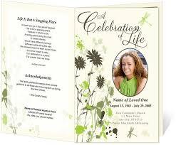 program for a memorial service celebration of program template 28 images celebration of