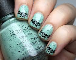 mint green and black nail designs image collections nail art designs