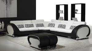 canapé design noir et blanc vente canape angle design okyo blanc noir mobiliermoss mobilier cuir