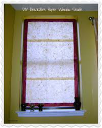 diy window treatment with handmade paper