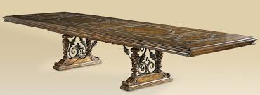 Luxury Dining Room Furniture Table With Stone Inlay Top And Iron Work - Luxury dining room furniture