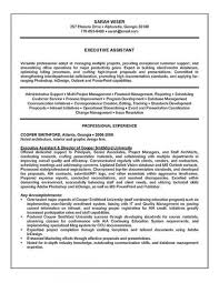 executive assistant resume example sample inside summary of