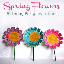 birthday party invitations flower birthday party invitations diy tutorial danya banya