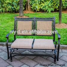 Garden Rocking Bench Cast Aluminum Garden Rocking Loveseat Glider Bench With Sling