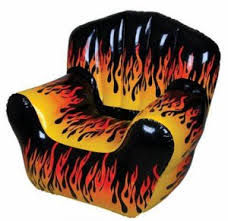 Gaming Lounge Chair Lazy Boy Flame Fire Gaming Lounge Chair Seat