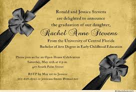 formal open house invitation gold charcoal gray graduate s