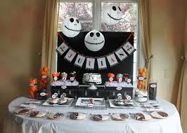 Halloween Decoration Party Ideas A Nightmare Before Christmas Party Birthdays Jack Skellington