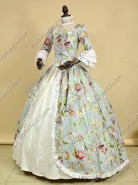 Colonial Halloween Costume Renaissance Princess Gown Alice Wonderland Theater Punk
