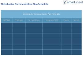 Project Status Report Email Template How To Create A Stakeholder Management Plan Smartsheet