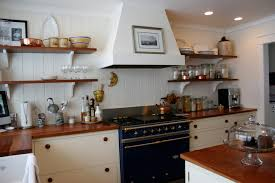 no cabinets in kitchen white painted cabinets open shelving wood countertops oiled with