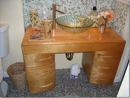 Midcentury Desk As Bathroom Vanity Around The House Pinterest - Amazing mid century bathroom vanity house