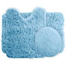 3 Piece Bathroom Rug Set by Lavish Home 3 Piece Super Plush Non Slip Bath Mat Rug Set