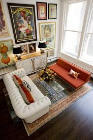Mixing Leather And Fabric Sofas by The Spectacular Living Space Of Decorator Jenny Komenda Of The