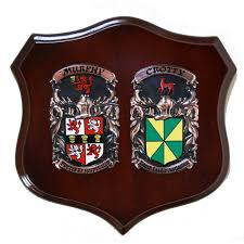 family coat of arms shield family crest plaques