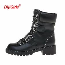 s boots buckle 2018 luxury brand genuine leather motorcycle boots european