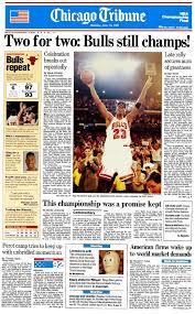Chicago Tribune News Desk Chicago Bulls Memorabilia Chicago Tribune Store