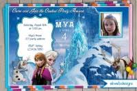 customized printable disneys frozen birthday party package