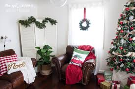 christmas home tour not just a housewife family room red and green