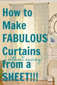 how to make curtains fabulous curtains from a twin size sheet