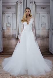 pnina tornai dresses style no 14483detachable skirt wedding dress with lace