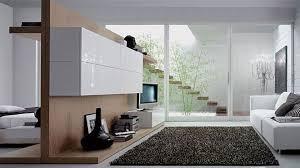 natural bright modern minimalist kitchen decorating with half wall