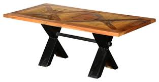 Trestle Coffee Table Living Concepts X Reclaimed Wood And Iron