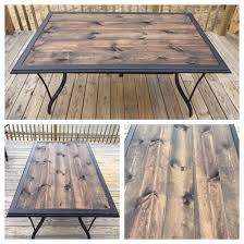 repurposed table top ideas repurposed patio table turned rustic after glass top shattered