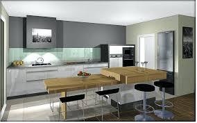 modele cuisine avec ilot central table table ilot central amacnagement de cuisine avec arlot wbb