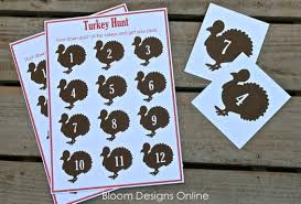 thanksgiving card for kids turkey hunt bloom designs