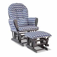 White Glider Rocker Furniture Blue White Chevron Replacement Cushions For Glider