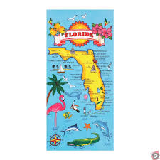 Gainesville Fl Map Florida Map Beach Towel