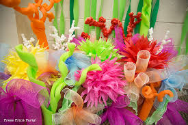 Under The Sea Centerpieces by How To Make A Coral Reef Decoration By Press Print Party