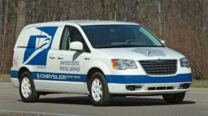 chrysler minivan chrysler reveals minivan ev proposal for us post office seeks