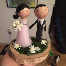 diy peg doll cake topper with allure 9162 gown weddingbee
