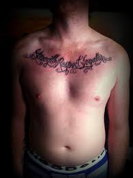 hebrew handsome chest tattoos meaning family design idea