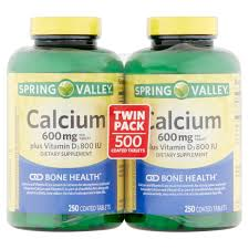 spring valley calcium supplement 600 mg with vitamin d 250 ct