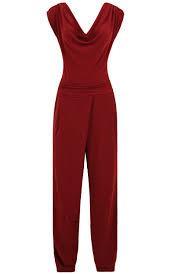 wine jumpsuit boutique ruby cowl neck wine jumpsuit
