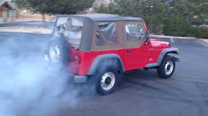 hauk hellcat jeep wrangler bt supercharged 2 5 wrangler burnout youtube